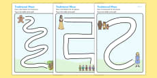 Traditional Tales Pencil Control Path Activity Sheets