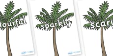 Wow Words on Palm Trees