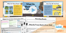 Science: Plants: What Do Plants Need to Grow Well? Year 3 Lesson Pack 2