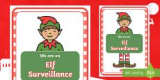 Elf Surveillance Display Poster