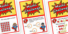 Year 2 Maths Challenge Cards
