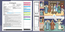 Nativity Story Sequencing EYFS Adult Input Plan and Resource Pack