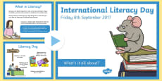 International Literacy Day 2016 PowerPoint