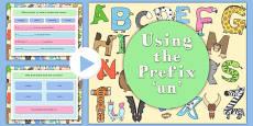 Using the Prefix un Teaching PowerPoint