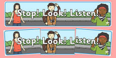 Stop Look Listen Display Banner