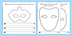 Máscaras de Carnaval para decorar