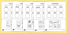 I Can Read! Phase 3 Consonant Digraph Words Activity Sheet