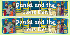 Daniel And The Lions Den Display Banner