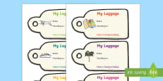 Holiday Luggage Labels