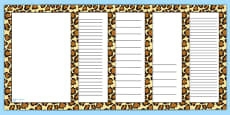 Leopard Pattern Portrait Page Border