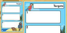Pirate Theme Editable Pupil Target Sheets