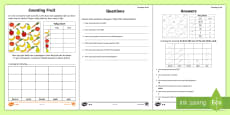 Year 2 Maths Statistics Activity Sheet
