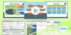 PlanIt - Geography Year 2 - Magical Mapping Lesson 6: Mapping Our Ocean and Seas Lesson Pack