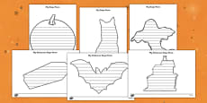 Halloween Shape Poetry Templates