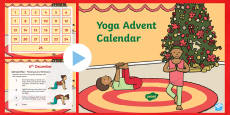 Yoga Advent Calendar PowerPoint