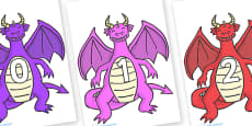 Numbers 0-50 on Dragons (2)