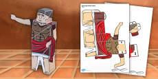Ancient Rome Paper Model Emperor
