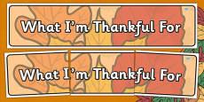Thanksgiving Display Banner