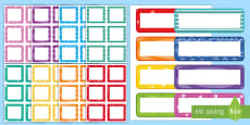 Editable Multicolour Pattern Drawer and Peg Labels Resource Pack