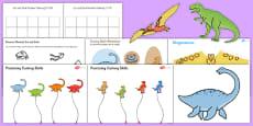 Dinosaur Themed Scissor Skills Pack