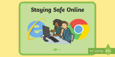Staying Safe Online Display Poster