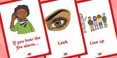 Fire Alarm Instructions Posters