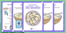 Making Eid Biscuits Recipe Cards