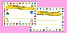 General Happy Birthday Certificates Romanian Translation