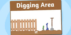 Digging Area Sign