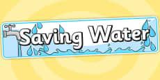 Saving Water Display Banner