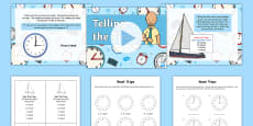 Telling the Time - Boat Trip Times Differentiated Lesson Teaching Pack