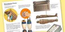 The Ancient Egyptians Mummification Information Printout