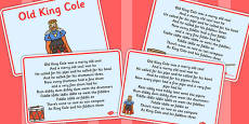 Old King Cole Story Sequencing Cards