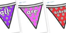 Tricky Words on Bunting (Flowers 2)