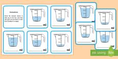 Ordering Amounts in ml Activity