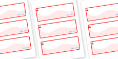 Cherry Themed Editable Drawer-Peg-Name Labels (Colourful)
