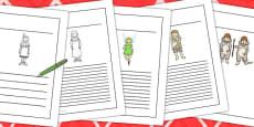 Peter Pan Writing Frames