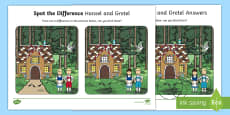 Hansel and Gretel Spot the Difference Activity