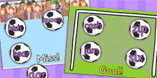 Phase 3 Nonsense or Real Words Goal or Miss Sorting Activity