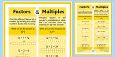 Factors and Multiples Display Poster