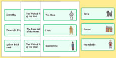 Wizard of Oz Word Cards