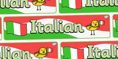 Italian Display Banner