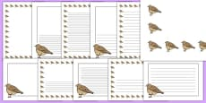 Skylark Themed Page Borders