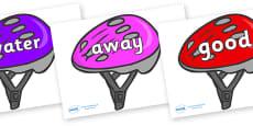 Next 200 Common Words on Bike Helmets (Multicolour)