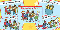 Ring-a-ring O' Roses Sequencing Cards