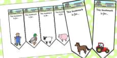 Farmer And Duck Editable Bookmarks
