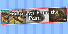 Footprints From the Past Photo Display Banner
