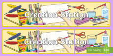 Creation Station Display Banner
