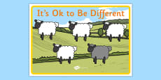 It's OK To Be Different Autism Awareness Poster
