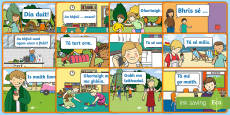 ROI Informal Language 1st and 2nd Class Display Posters Gaeilge